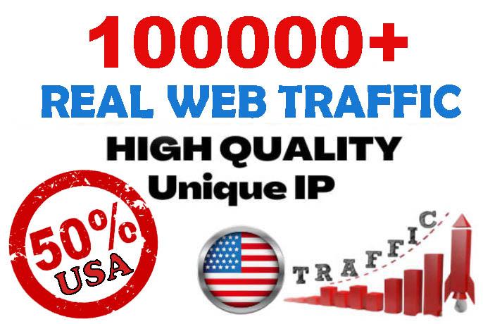 100000+ Unique Website Traffic 50 percent USA to your website