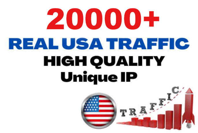 20000+ Unique USA Targeted Real Human Website Traffic to your website