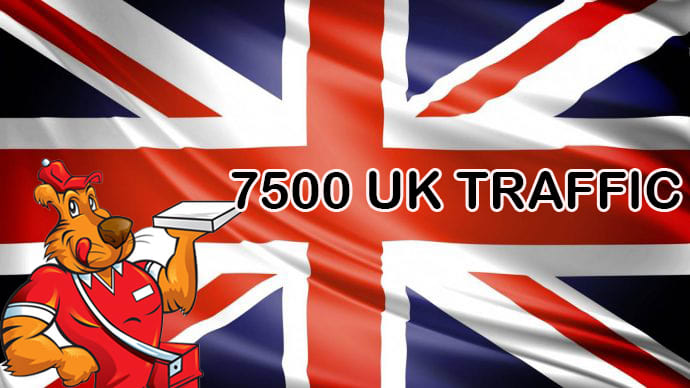 I will 7500 UK website traffic limited offer