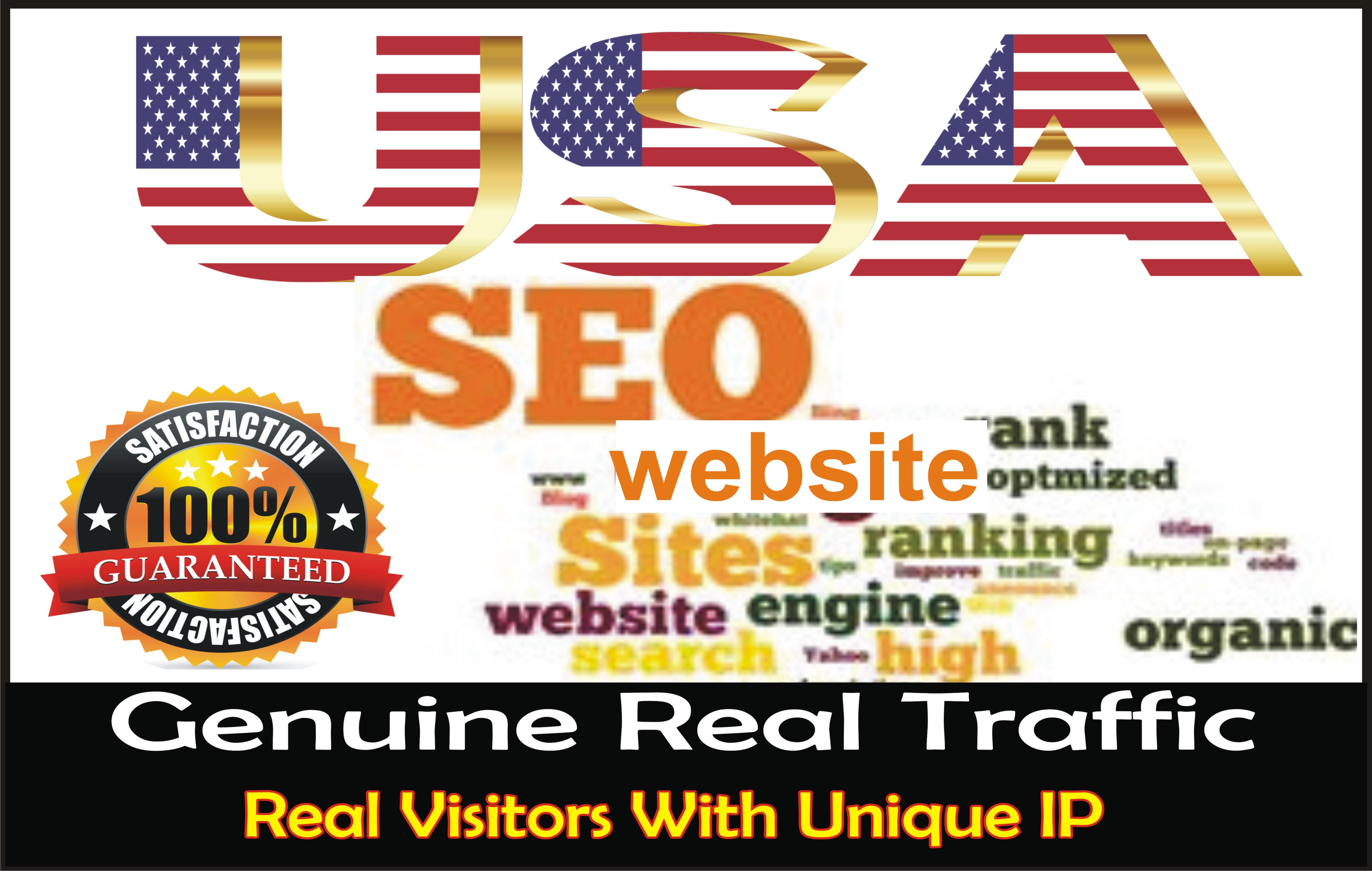 I will boost website keyword real organic targeted USA web traffic