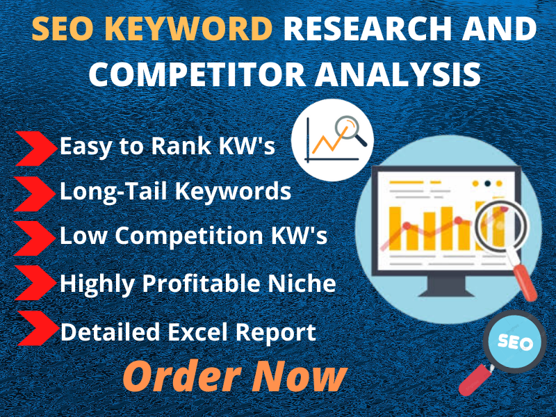 SEO keyword research and competitor analysis for website Rank
