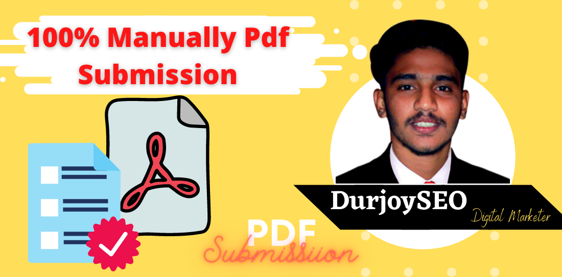 I will manually submit article or pdf to top document submission sites for top ranking