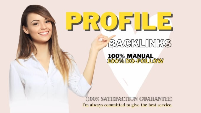 I will create 100+ high authority profile backlinks from DA 50-90+ sites