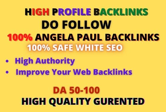Get 101 high da angela paul profile backlinks for SEO ranking