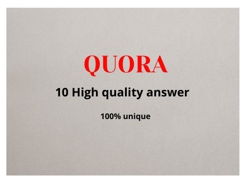 10 Quora answer with High Quality Backlinks