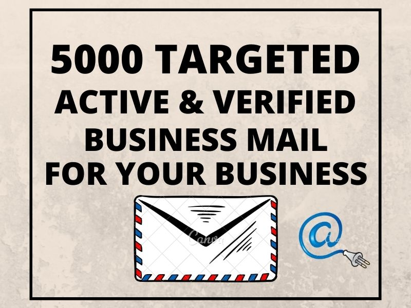 I will collect 5000 Targeted Active & Verified Business email