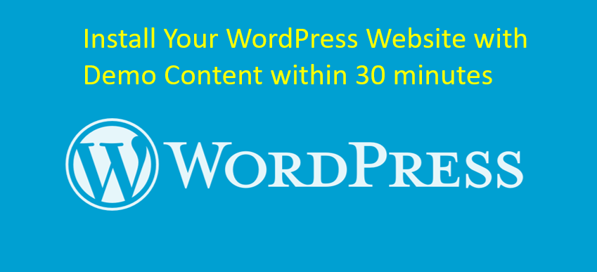I will install WordPress theme and upload demo content