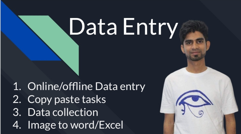 I will do your any kind of data entry works with