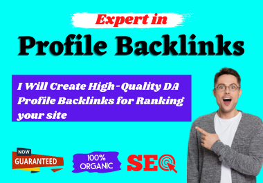 I will create 50 quality do-follow profile backlinks for ranking your site