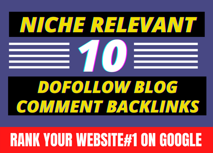 I will provide 30 niche relevant high authority blog comment backlinks manually