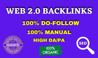 I will create 30 High Authority Web 2.0 backlinks manually