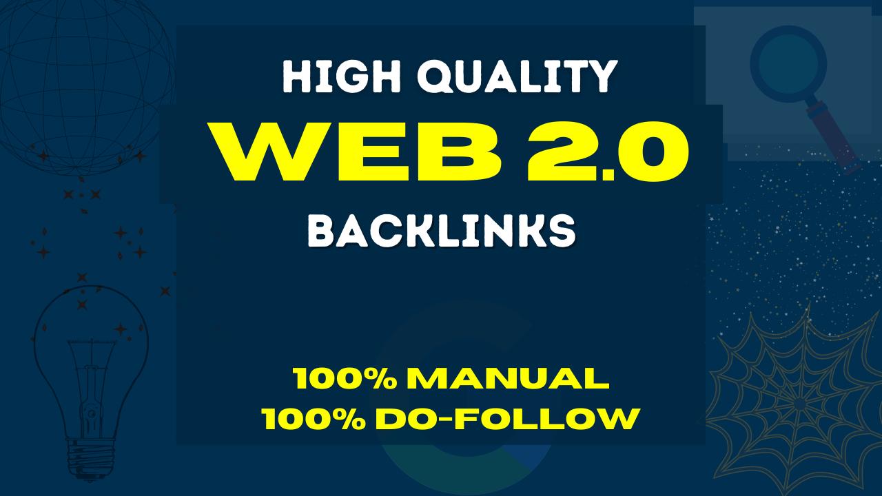 I will create 25 High authority web 2.0 backlinks