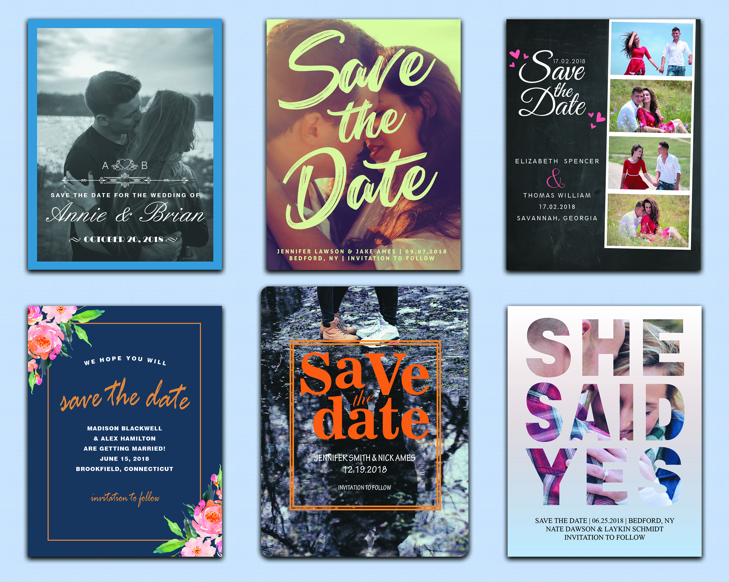 I will create save the date card