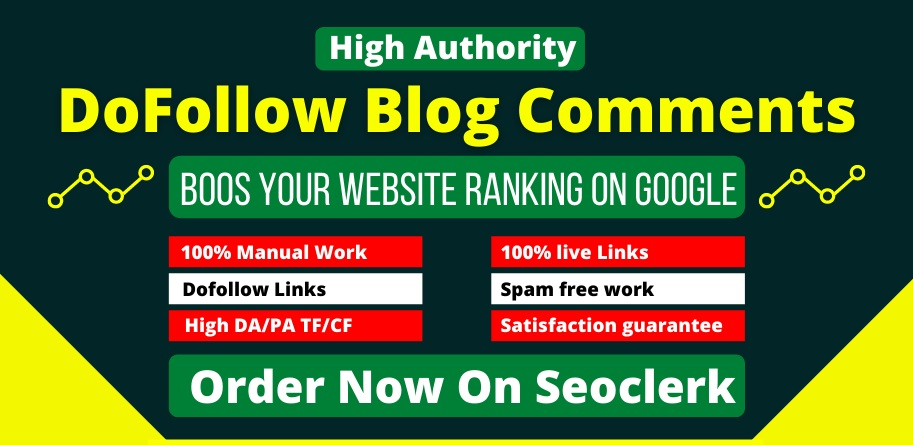 I will do 100+ Quality Dofollow blog comments seo backlink for your Website ranking