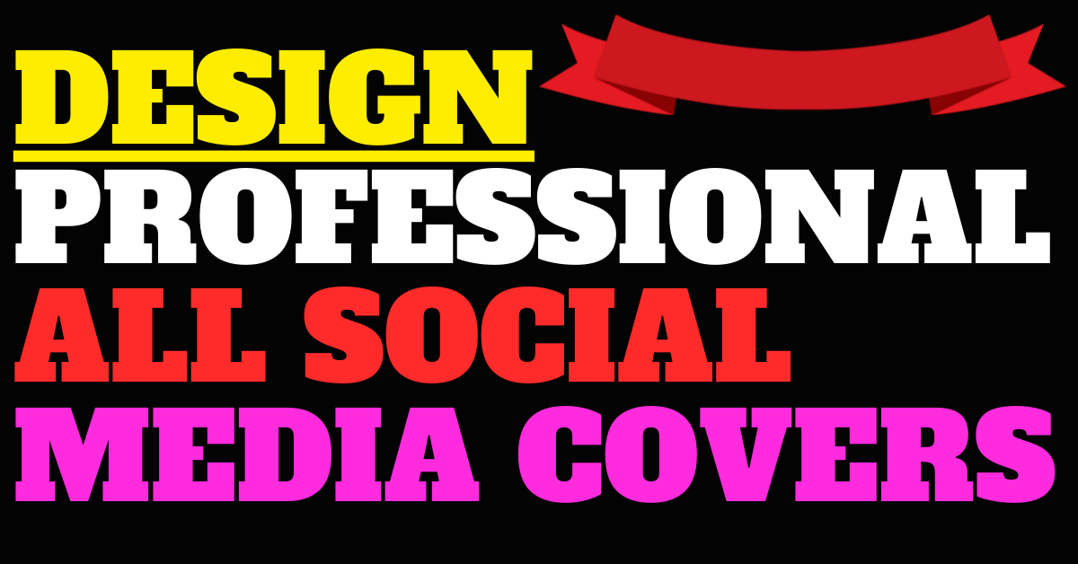 I will design a professional all social media covers
