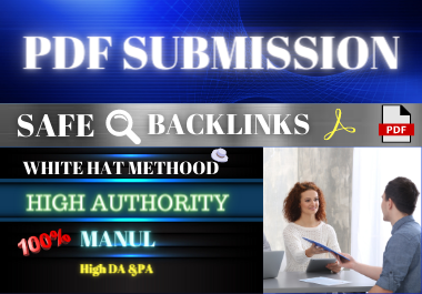 20 PDF Submission high authority domain low spam score permanent backlink
