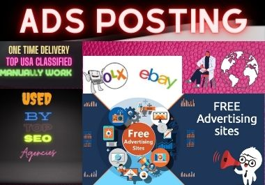 20 classified ads posting service with live link report for Your Targeted Country