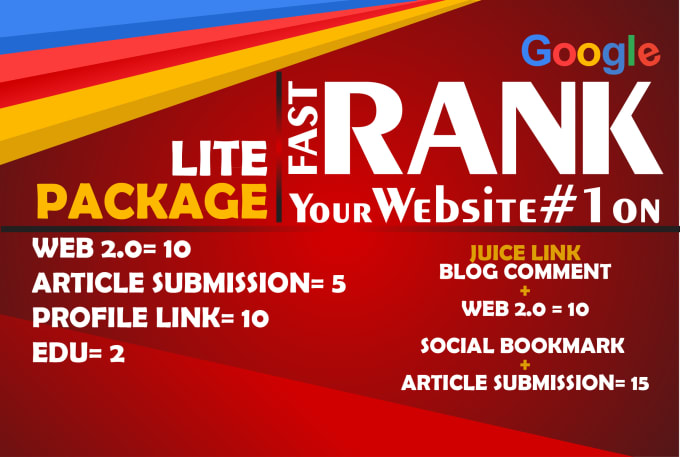 I Will DO Lite Package TO Boost your site ranking