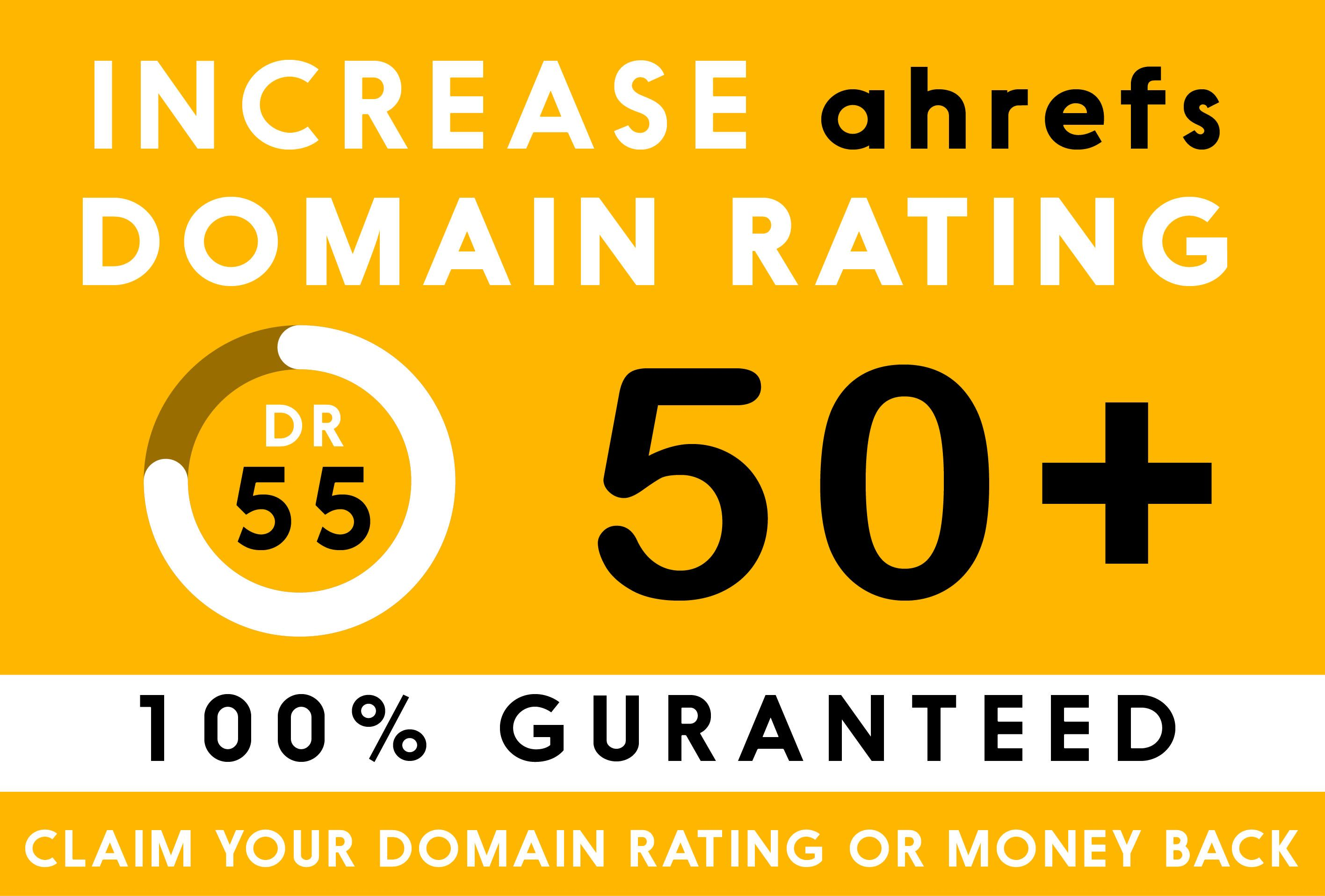 I will increase domain rating and increase ahrefs DR upto 50