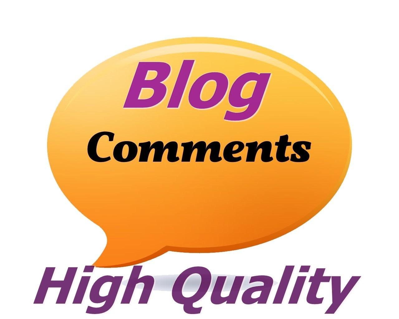 i will create 80 high quality blog coments backlnks on high da