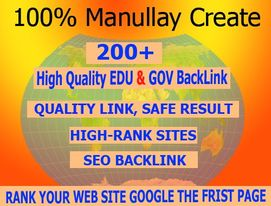 I will create 200+ unique updated edu gov backlinks with keyword targeted