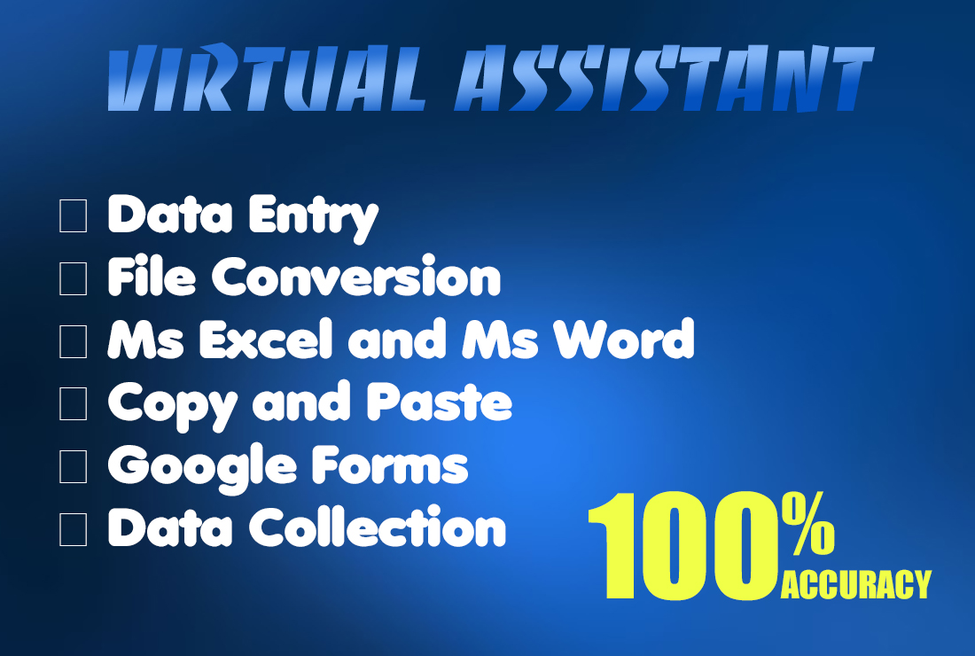 I will do accurate data entry, copy paste jobs