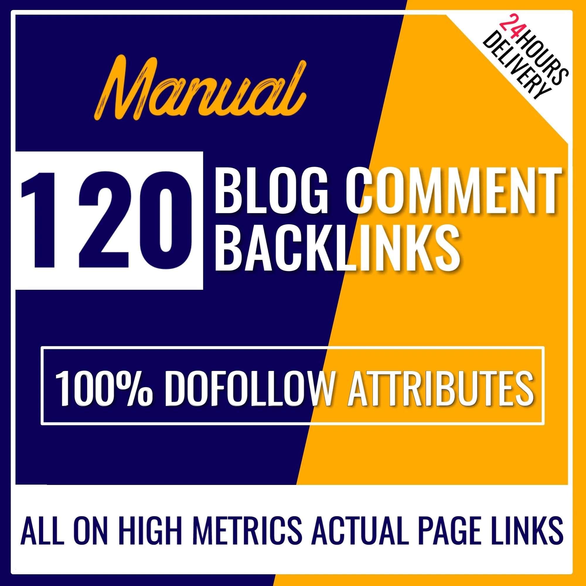 I will build 120 dofollow blog comment backlinks manually