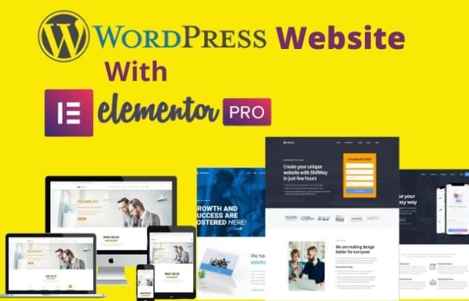 I will create responsive wordpress website or landing page using elementor pro