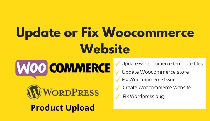 I will update or fix woocommerce website
