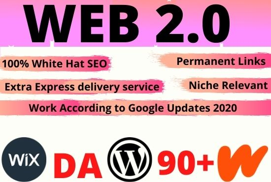 20 Web2.0 high authority contextual backlinks for your website rank on google