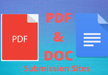 Best 20 PDF Submission high authority low spam score sharing sites permanent backlinks