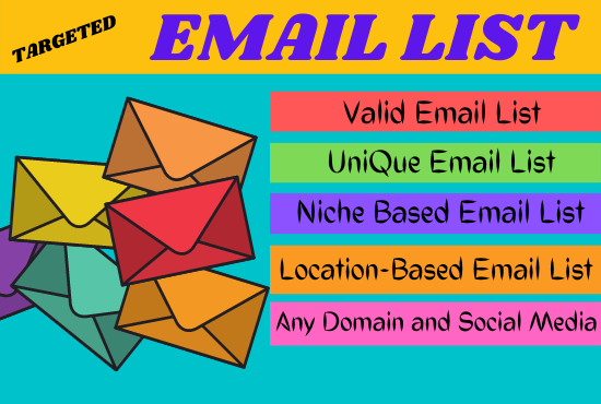 I will collect 1500 niche targeted email marketing,  email List,  email campaign