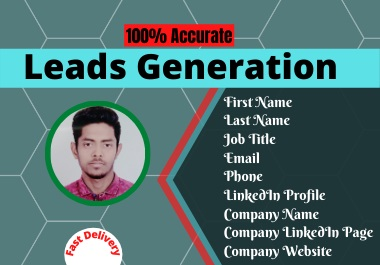 I will do Leads Generation B2B and targeted Email Collection from Linked In