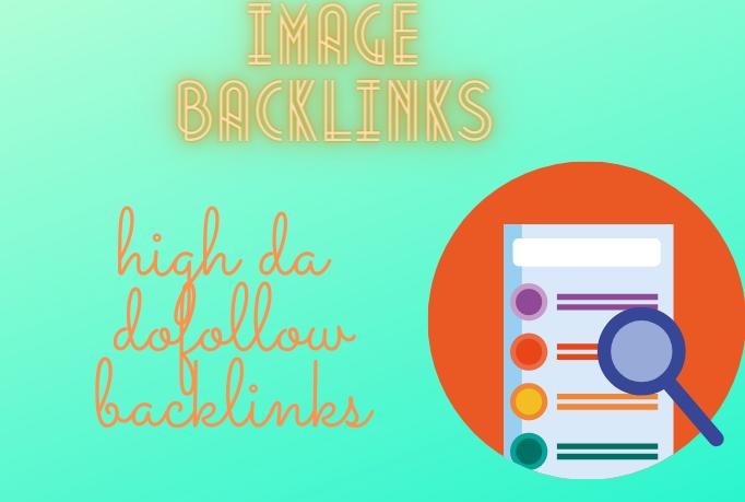 I will make 15 high da backlinks on image sharing sites