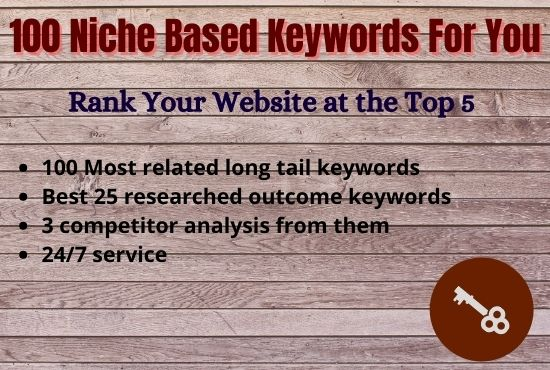 Best Niche Related Keyword Research & Competitor Analysis for You