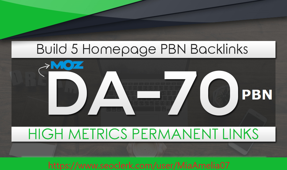 Manually Build domain authority 5 HomePage Posts Moz DA 70 Plus PBNs