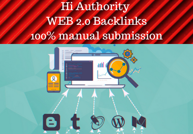 Web 2.0 Backlinks And Web 2.0 Profile Backlinks Get 20 Effective High Authority Backlink