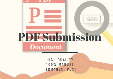 Manual 20 PDF or Doc Submission On High Authority Document Sharing Sites,  Using White Hat Tactics