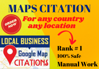 Manual 200 Google Maps Citation must rank your website and google business page local seo