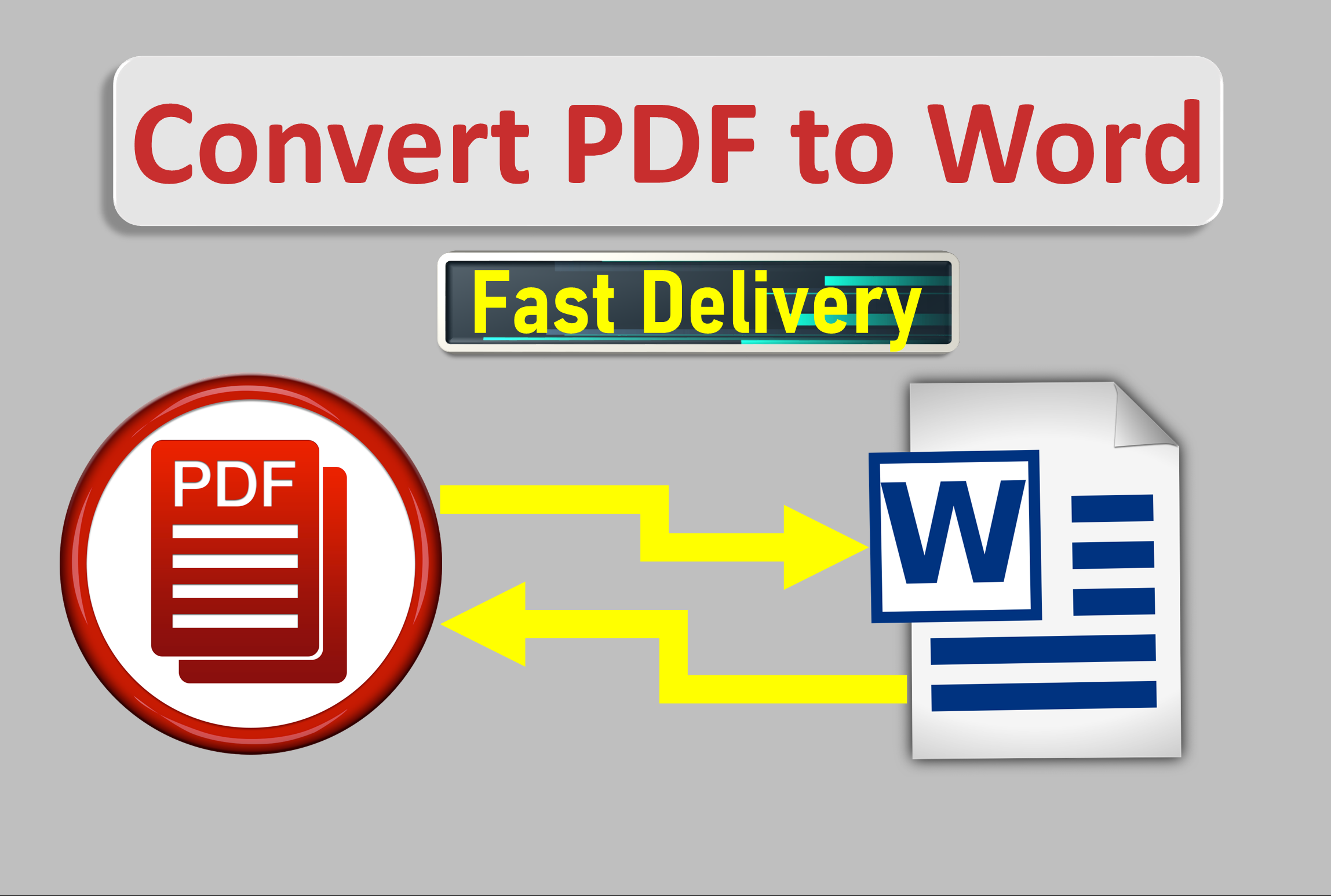 I will Convert PDF to Word or Excel within 24 hours