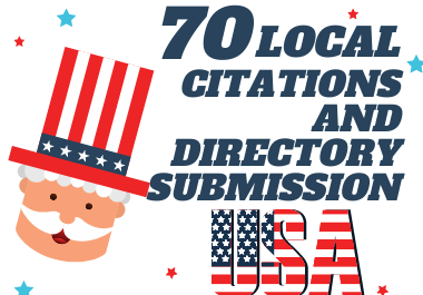 I will do 70 USA local citations and directory submission