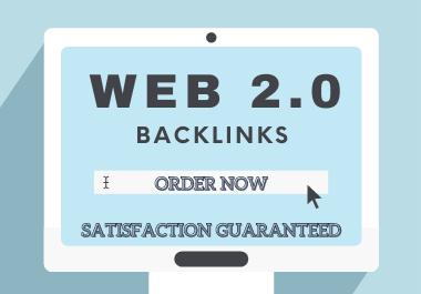 I will make 50 high authority web 2.0 backlinks manually