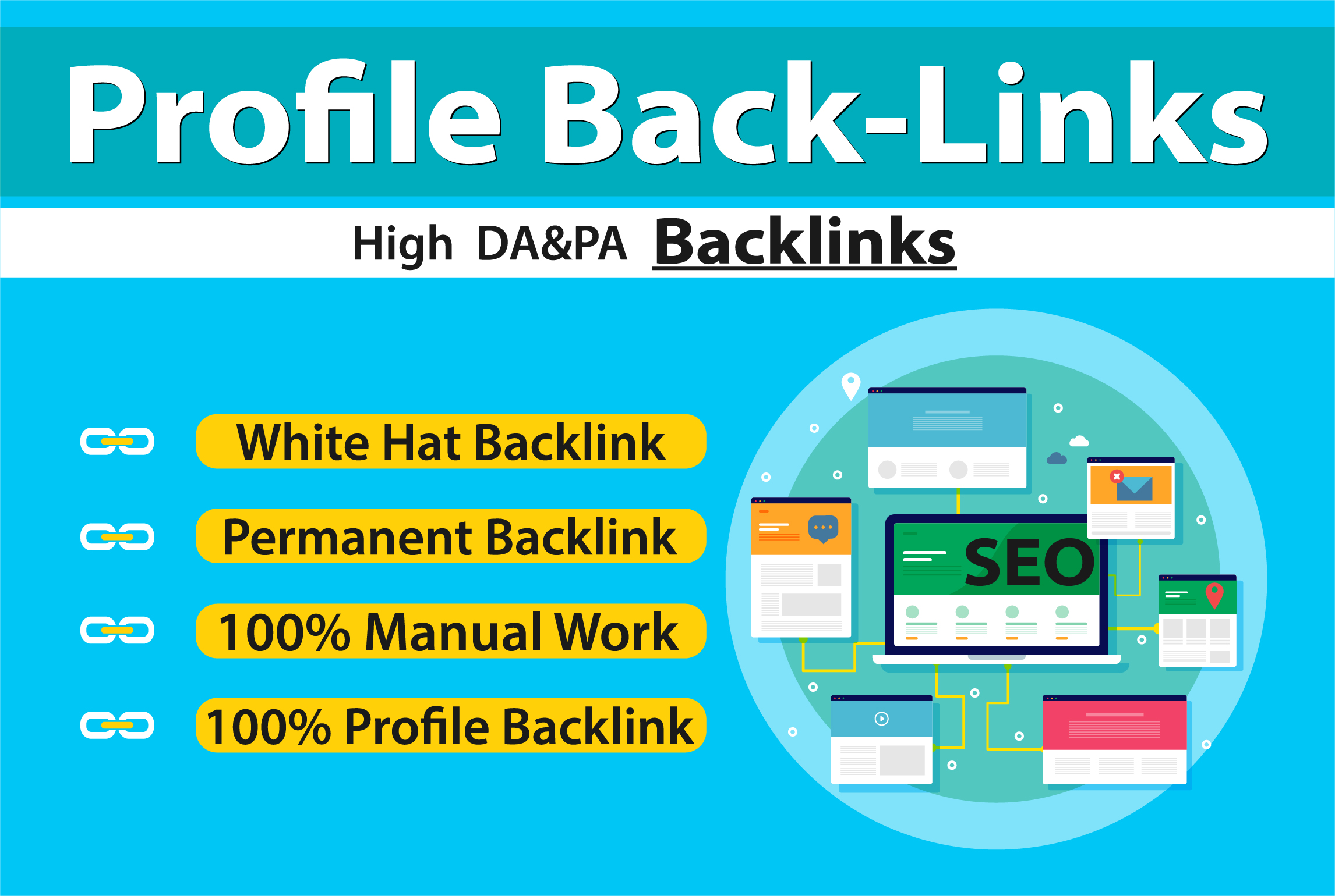 I will Provide 70 High Authority PROFILE BACK-LINKS Manually