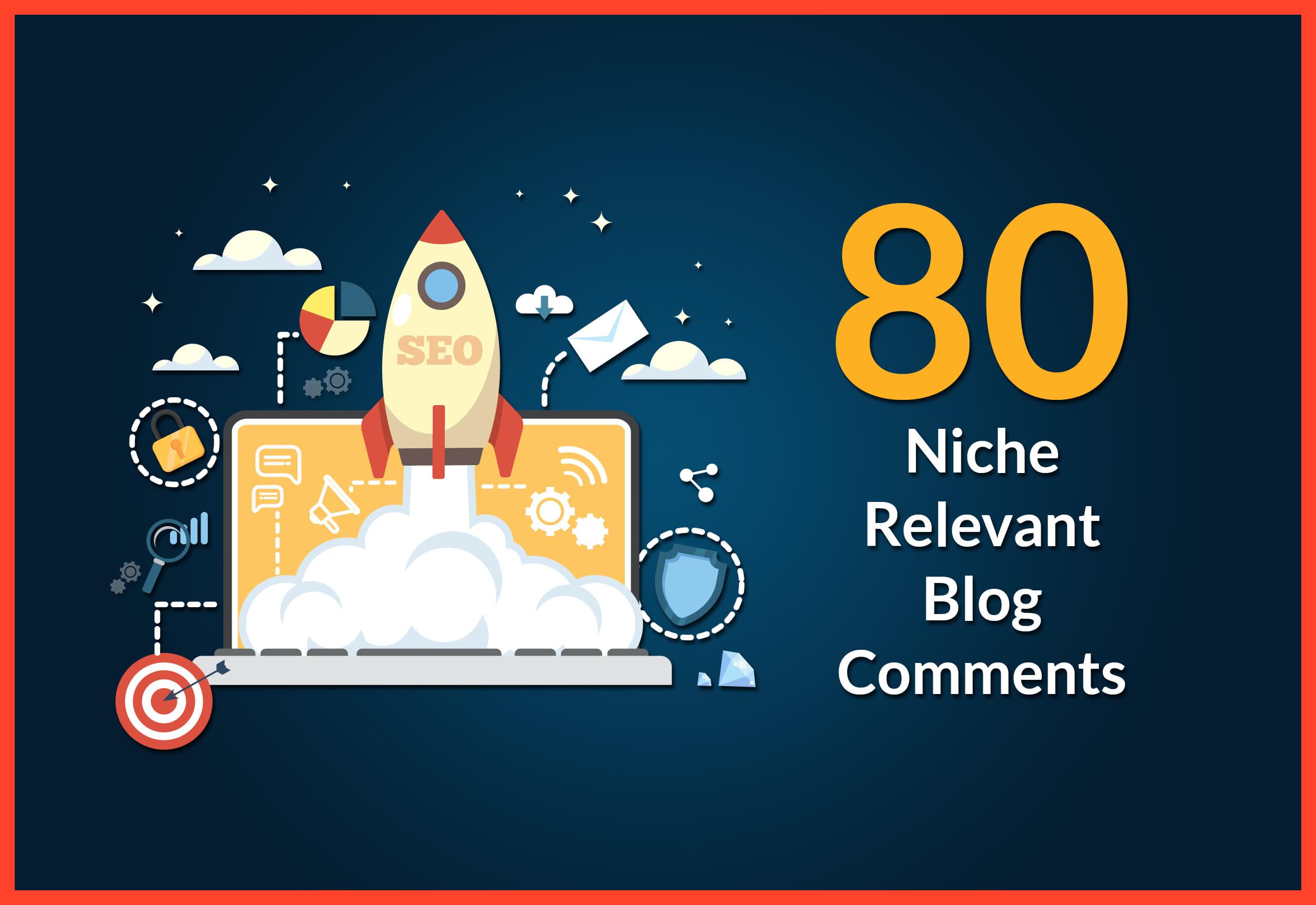 Do 80 Niche Relavant Blog Comments Backlinks