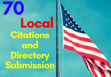 I will make 70 USA local citations and directory submission