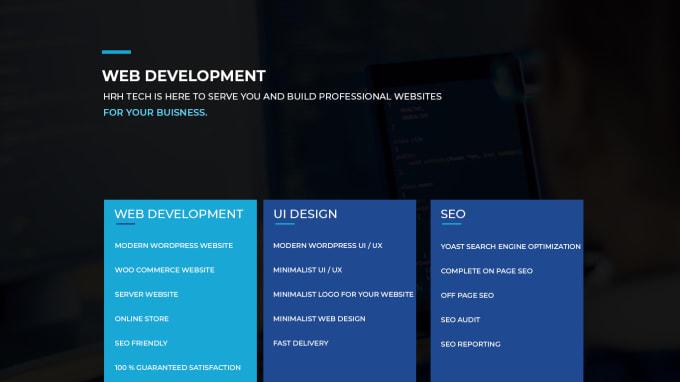 I will develop a modern WordPress website,  UI UX, SEO optimized Website