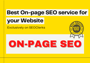 Best On-Page SEO service for your website