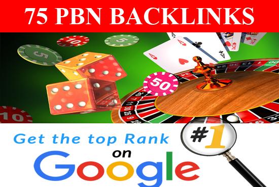 PBN Backlinks 75 CASINO Poker Gambling High Quality for top ranking