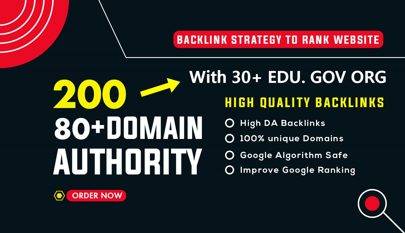 Build 200 Premium Authority Backlinks With 30+ EDU. GOV. ORG For Google Ranking