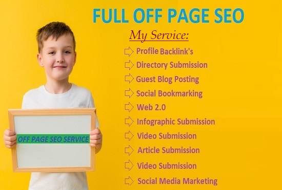 I will do full OFF Page SEO with high authority Backlink's
